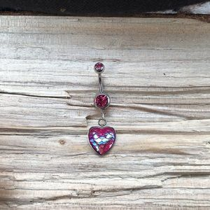 Mermaid Heart Belly Button Ring